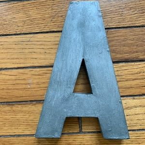 Galvanized Anthropologie Letter A Signage